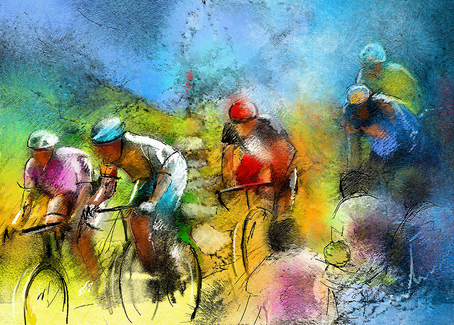 Sports Painting - Le Tour De France 01 by Miki De Goodaboom