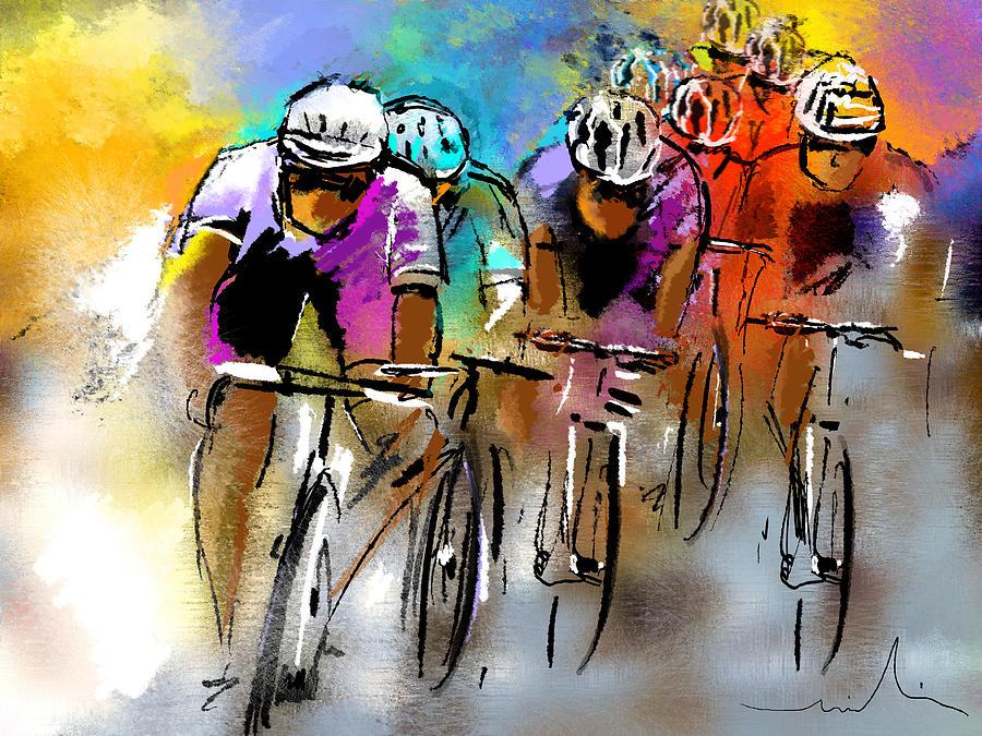 Sports Painting - Le Tour De France 03 by Miki De Goodaboom