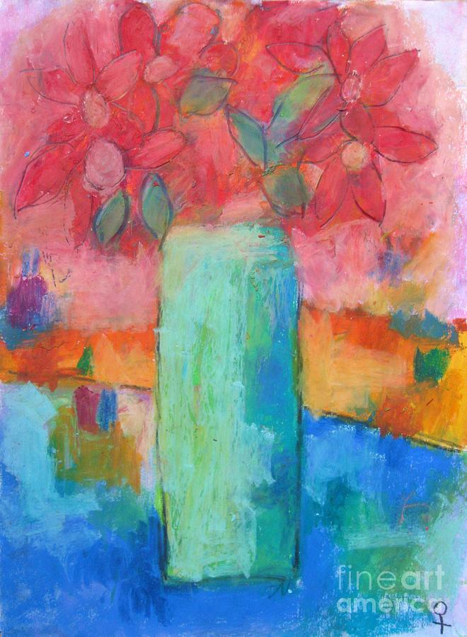 Modern Painting - Le Vase Jardin by Venus