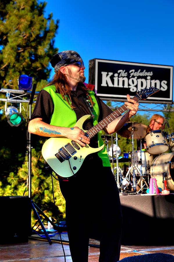 Guitars Photograph - Lead Guitarist Jimmy Dence - The Fabulous Kingpins by David Patterson