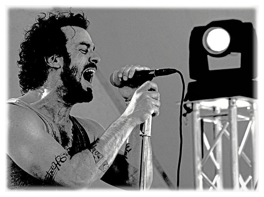 Rock Music Photograph - Lead Singer II by James Hammen