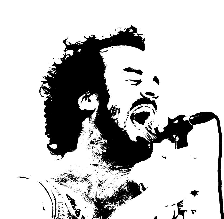 Rock Music Photograph - Lead Singer by James Hammen