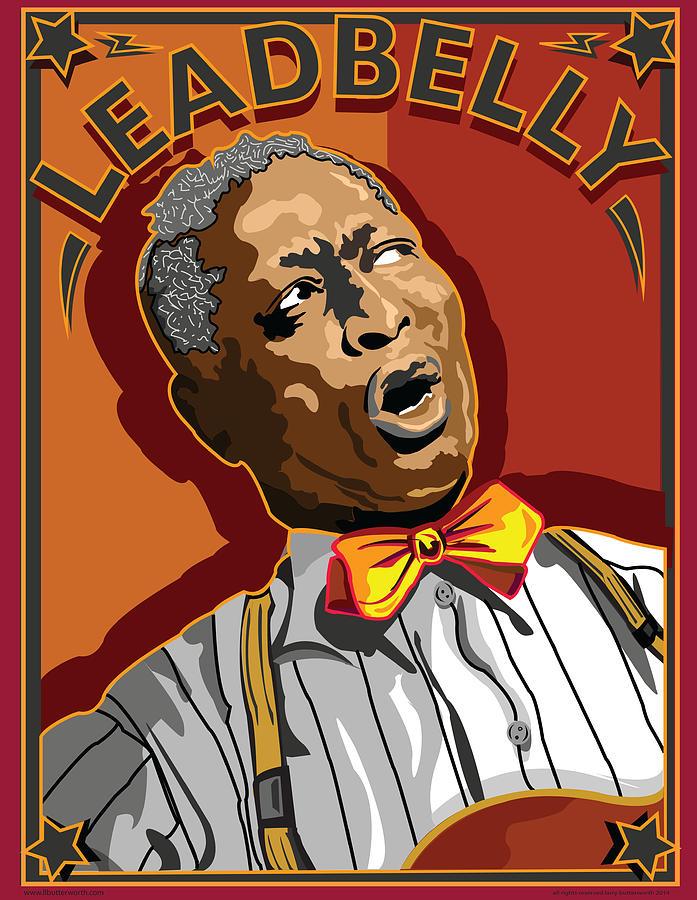 Music Digital Art - Leadbelly Delta Blues by Larry Butterworth