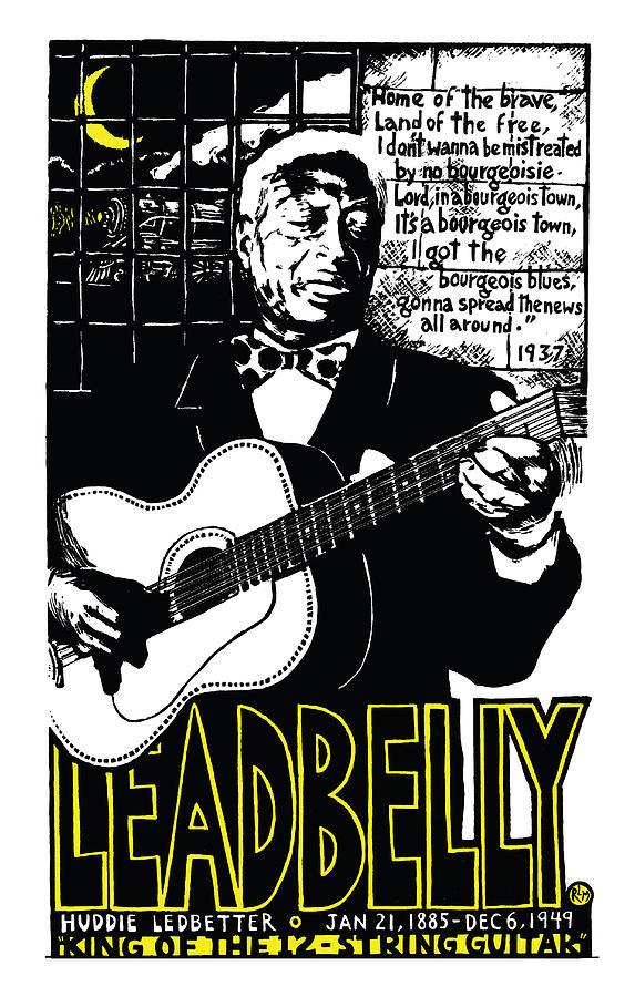 Leadbelly Mixed Media - Leadbelly by Ricardo Levins Morales