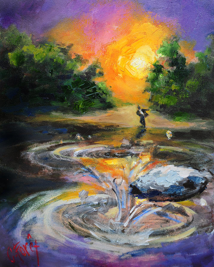 Purple Painting - Leadership by Carole Foret