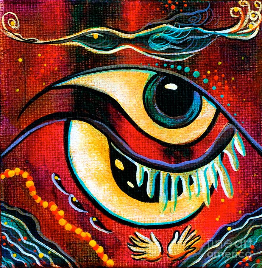 Deborha Kerr Painting - Leadership Spirit Eye by Deborha Kerr