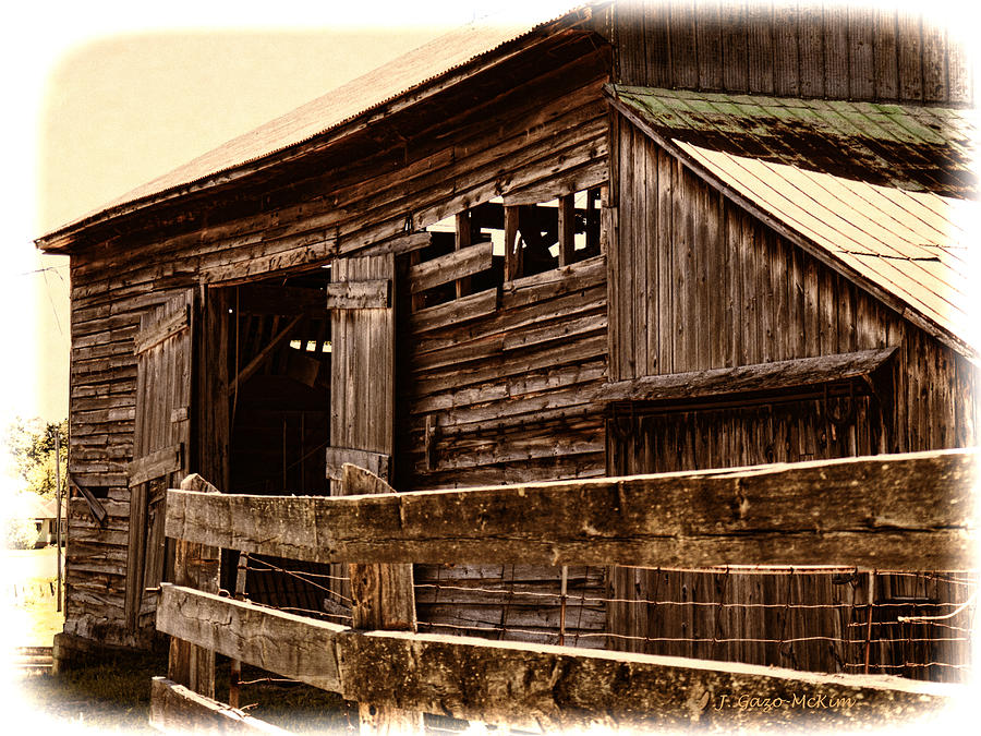 Leading To The Barn Photograph