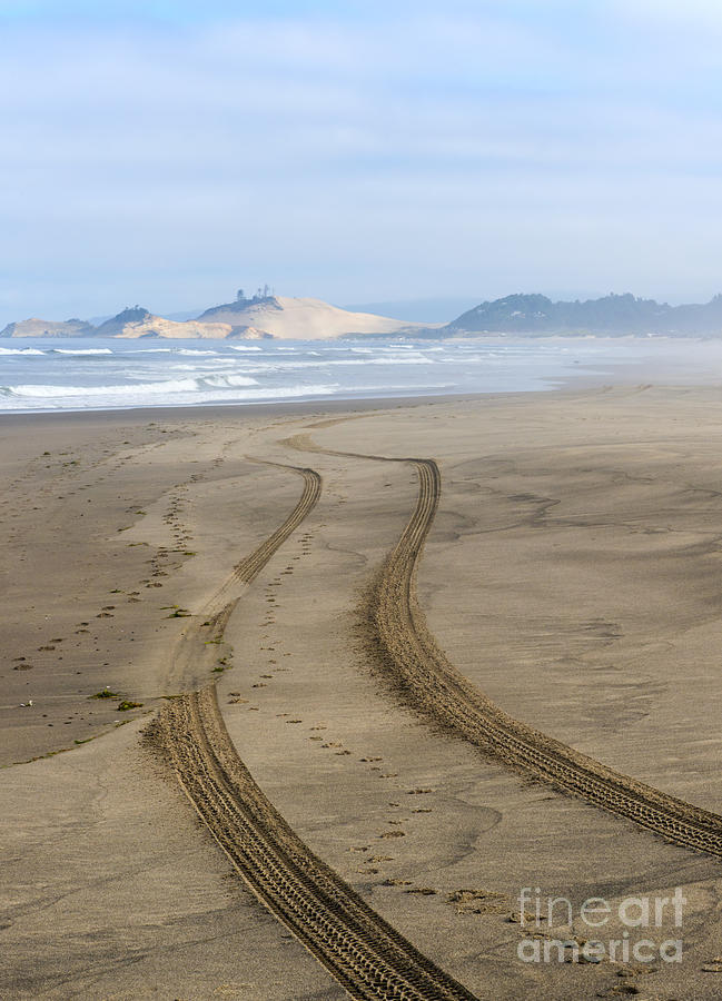 Tracks Photograph - Leading To The Cape by Mike Dawson