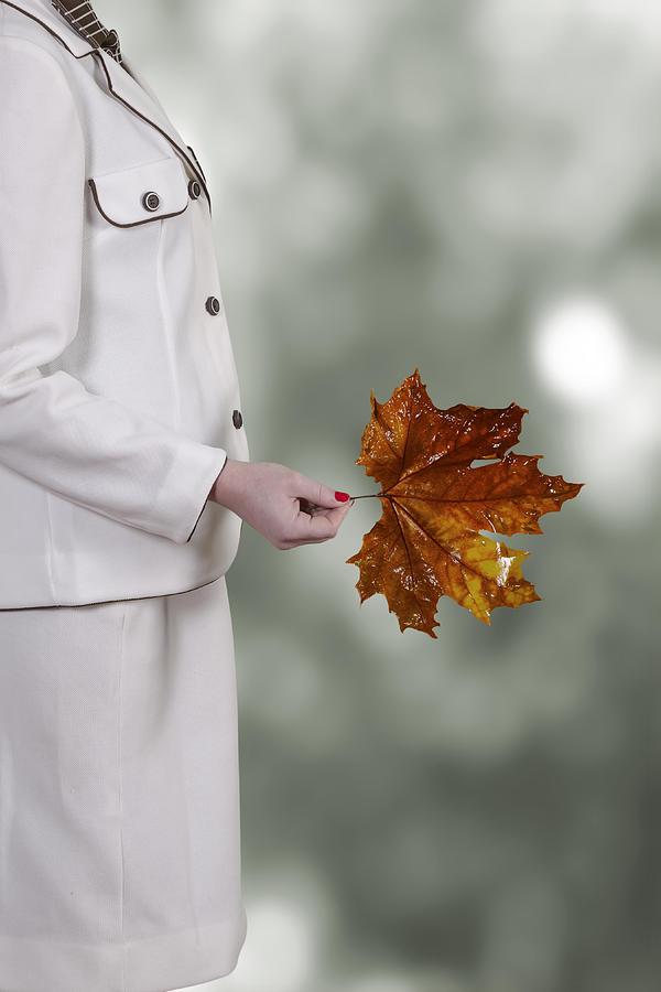 Woman Photograph - Leaf by Joana Kruse