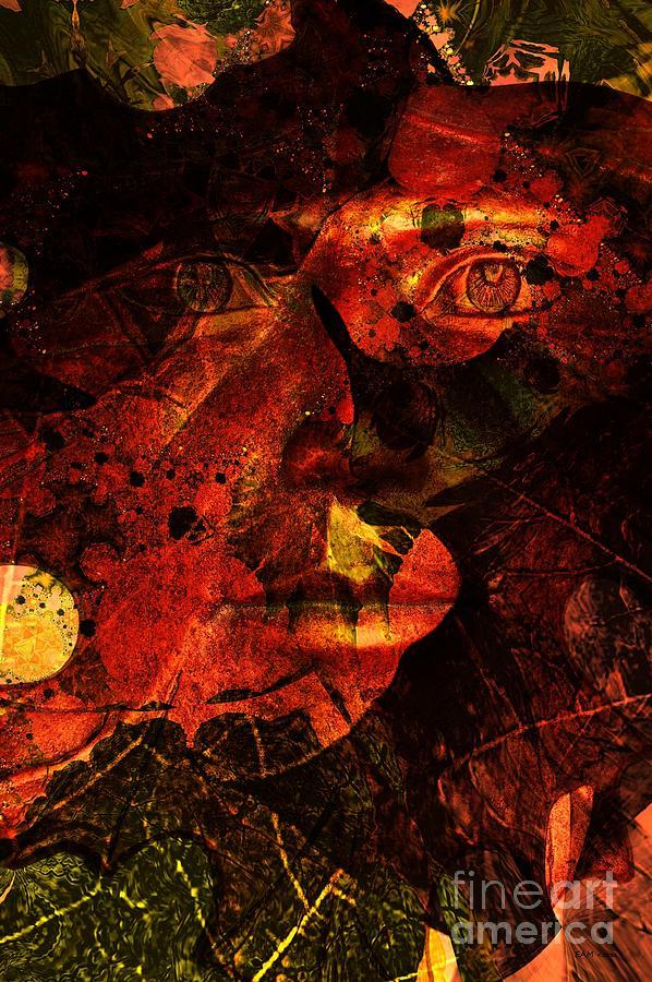 Leaves Digital Art - Leaf Man by Elizabeth McTaggart