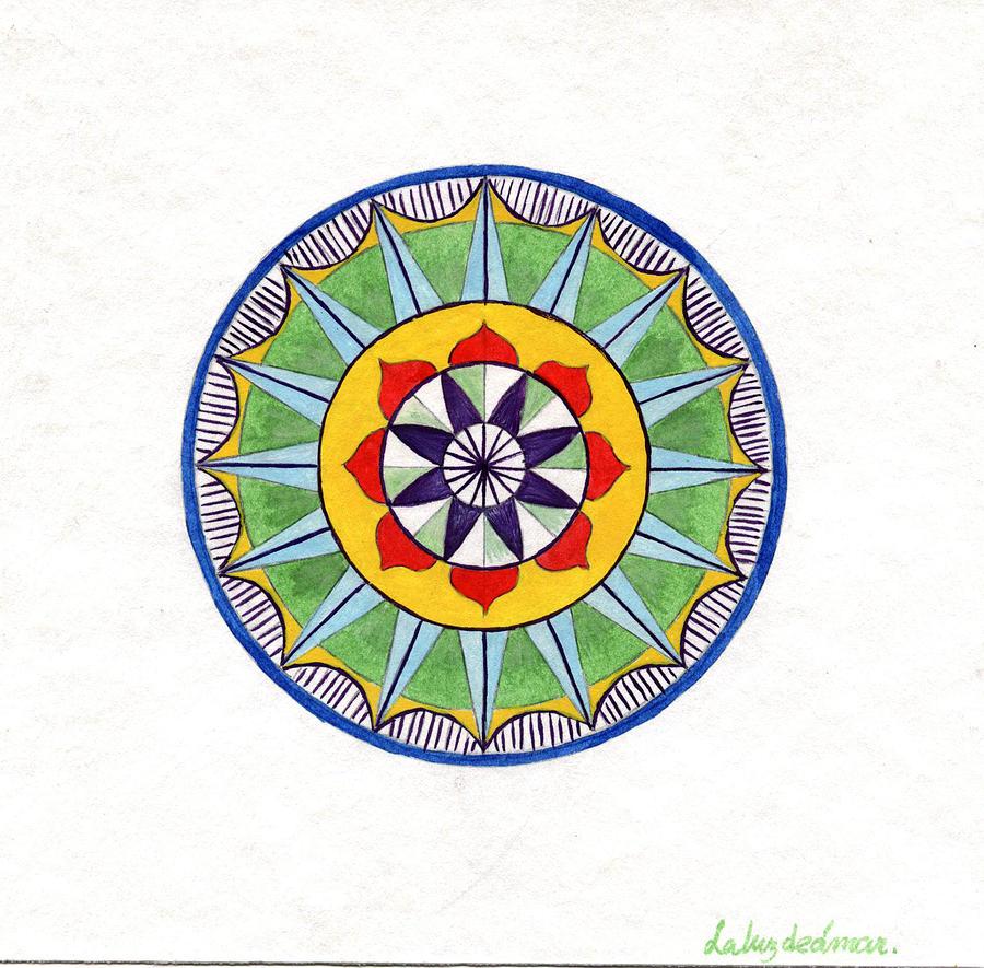 Mandala Painting - Leaf Mandala by Silvia Justo Fernandez