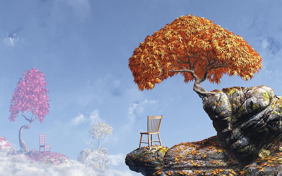 Fall Digital Art - Leaf Peepers by Cynthia Decker