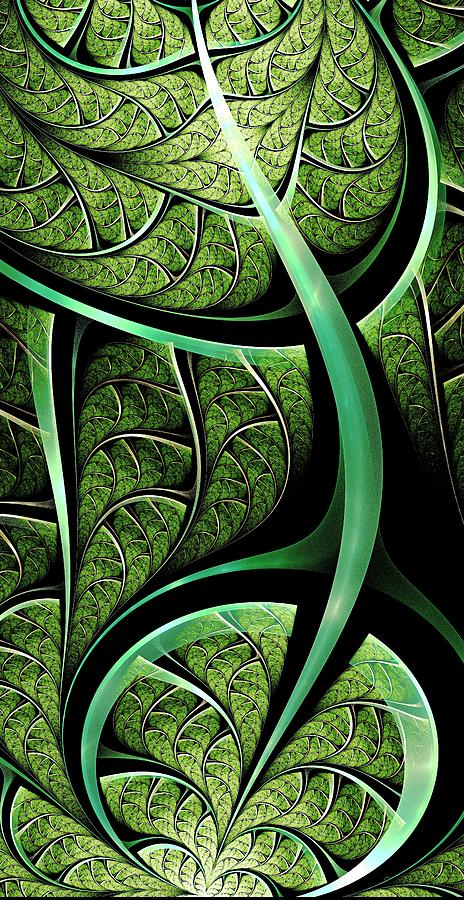 Leaf Digital Art - Leaf Texture by Anastasiya Malakhova