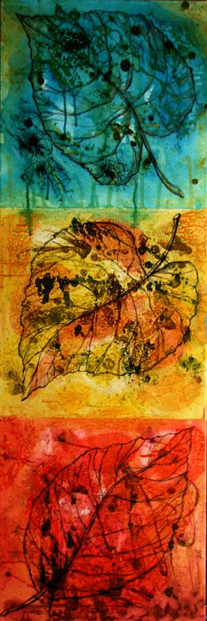 Leafs Painting by Leon Zernitsky