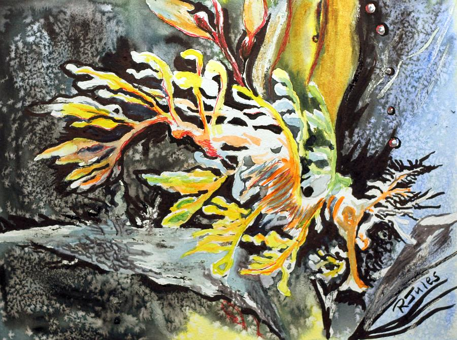 Fish Painting - Leafy Dragon by Richard Jules