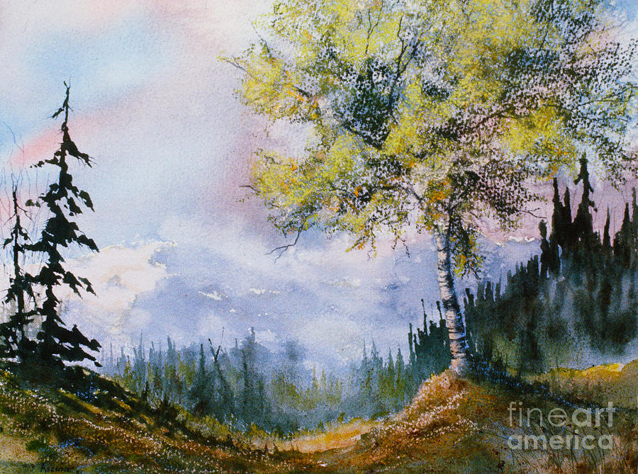 Leafy Tree Painting By Teresa Ascone