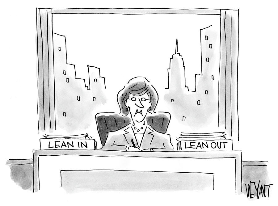 Lean In Drawing - Lean by Christopher Weyant