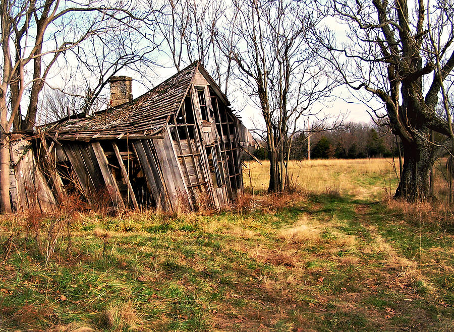 Old Home Photograph - Lean To by Marty Koch