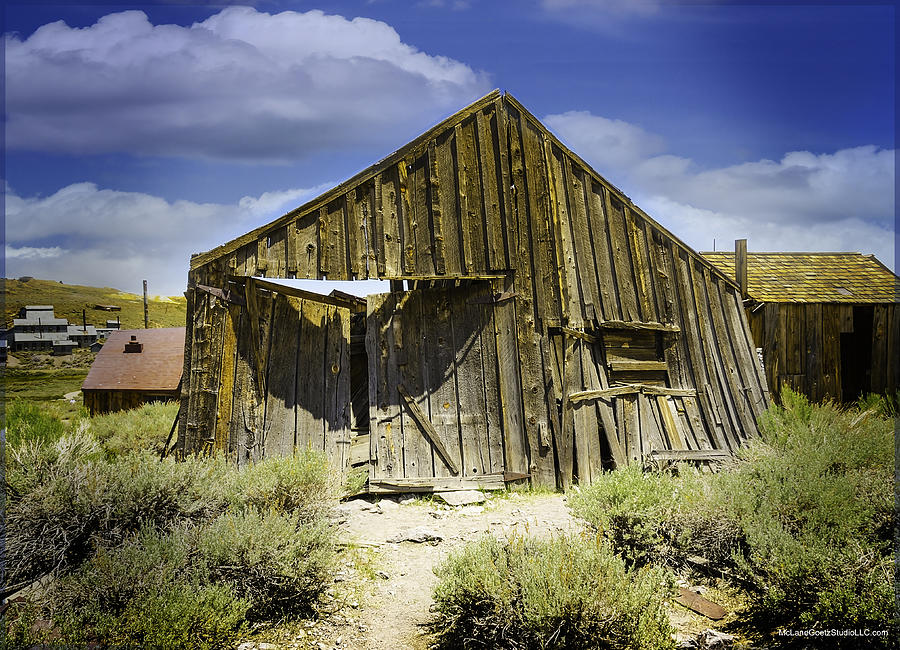 Bodie Photograph - Leaning Barn Of Bodie California by LeeAnn McLaneGoetz McLaneGoetzStudioLLCcom