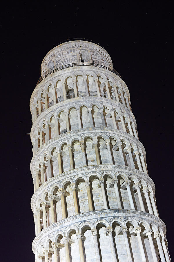 Leaning Tower Of Pisa At Night Photograph by Allan Baxter