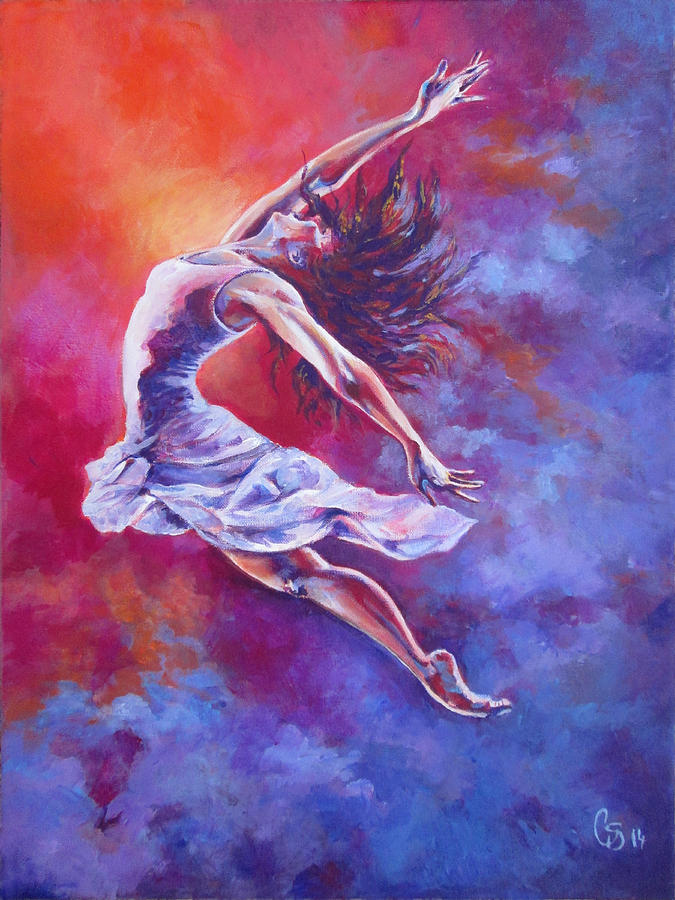 Leap Of Faith Painting By Tamer And Cindy Elsharouni