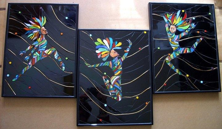 Dancers Glass Art - Leap Of Faith by Jane Wright