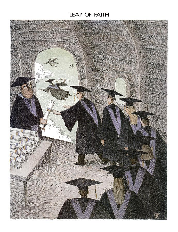 1993 Drawing - Leap Of Faith by John OBrien
