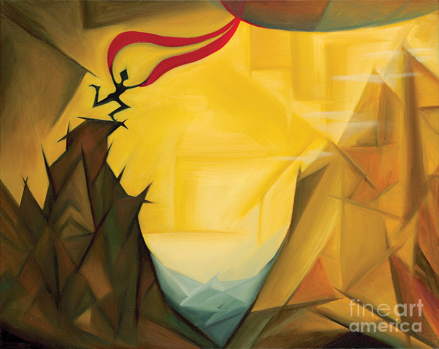 Abstract Expressionist Painting - Leap Of Faith by Tiffany Davis-Rustam