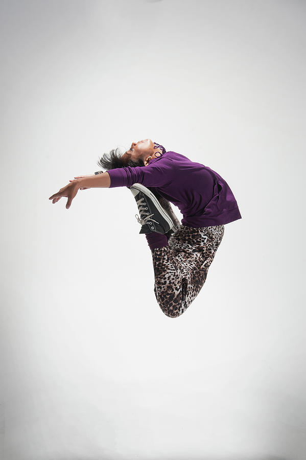 Leaping Community College Dancer Photograph by Stephen Simpson