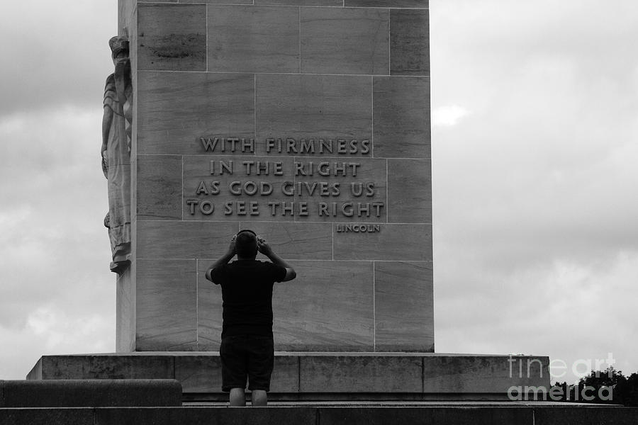 Gettysburg Photograph - Learning From Lincoln by James Brunker
