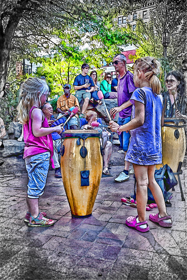 America Photograph - Learning The Drums Young by John Haldane