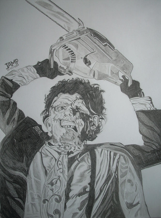 Texas Drawing - Leatherface by Jose Mendez