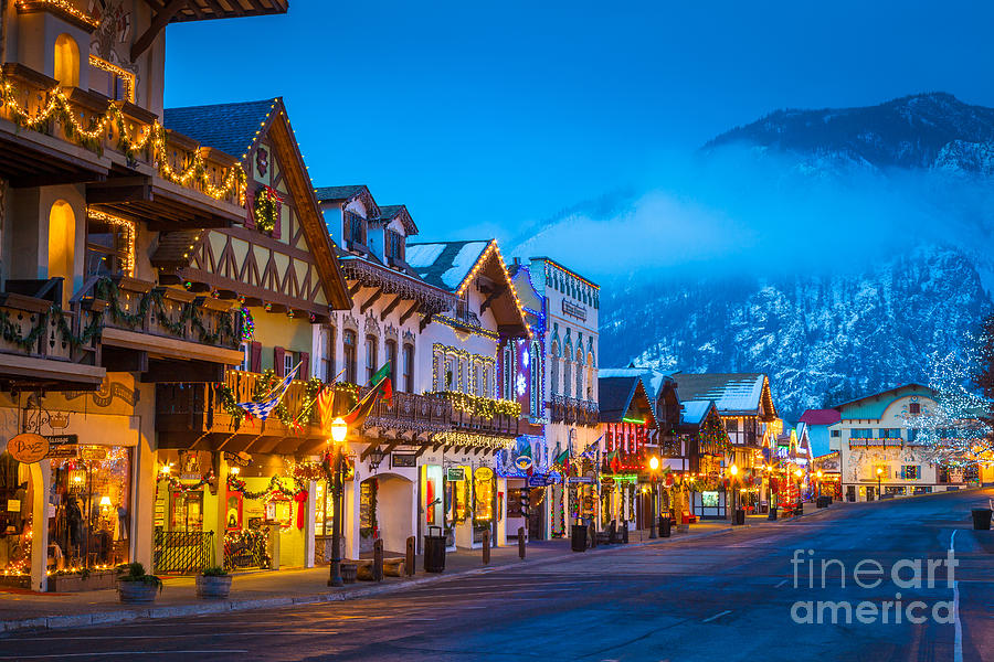 America Photograph - Leavenworth Skyline by Inge Johnsson