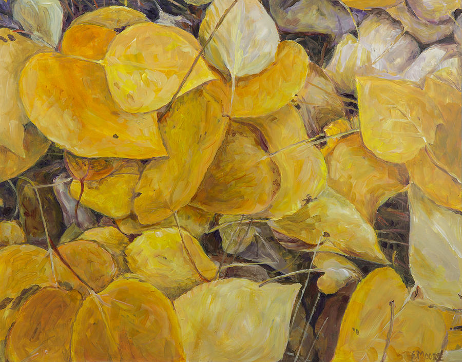 Leaves Painting - Leaves Alone by Susan Moore