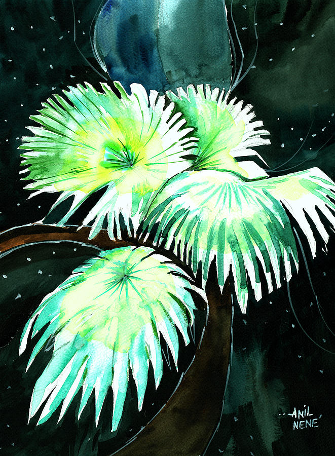 Dream Painting - Leaves by Anil Nene