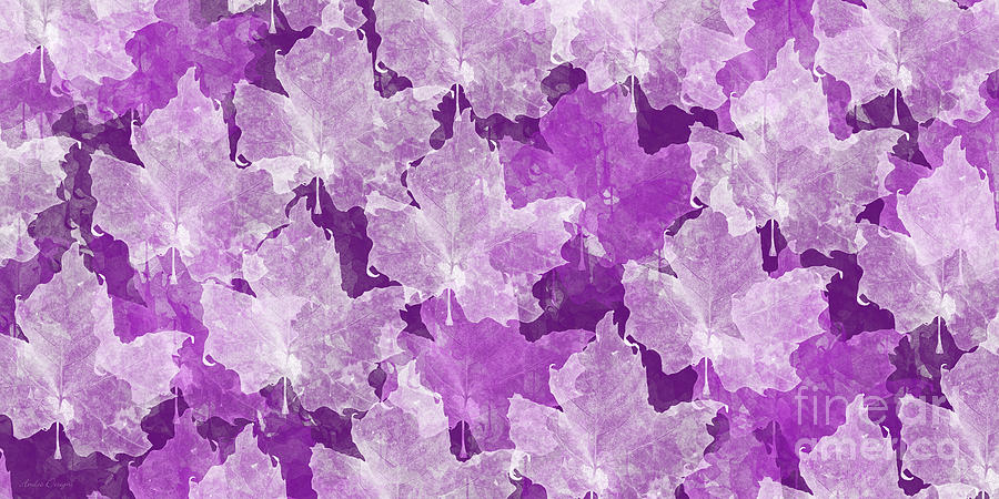 Leaf Photograph - Leaves In Radiant Orchid by Andee Design