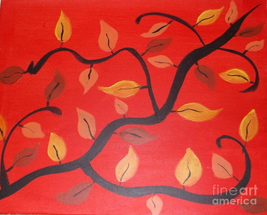 Leaves Painting - Leaves by Krystal Jost