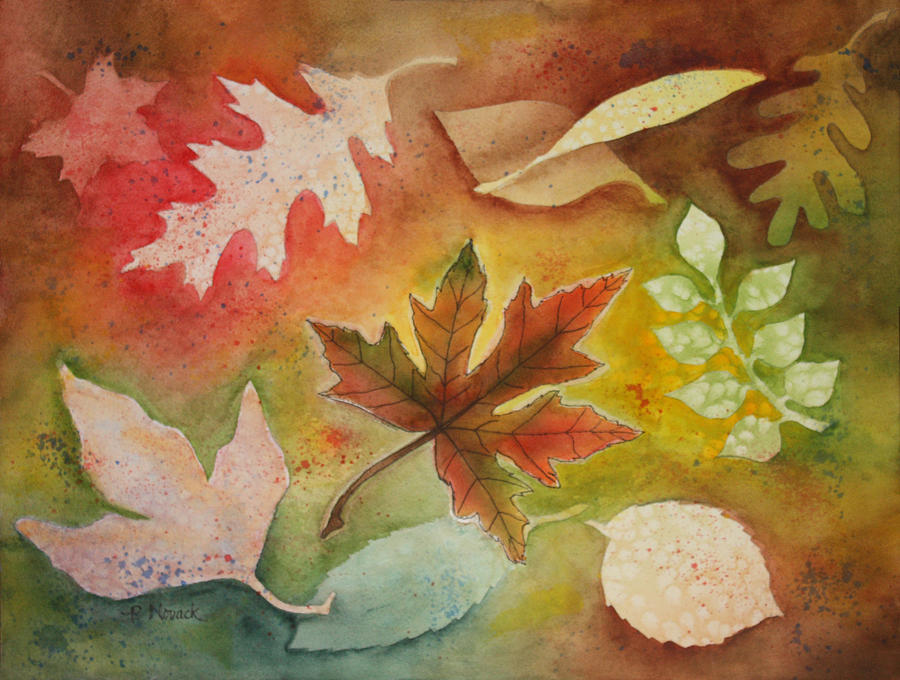 Leaves Painting - Leaves L by Patricia Novack