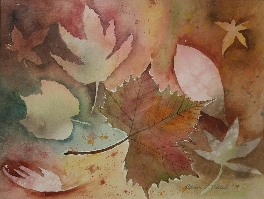 Leaves Painting - Leaves by Patricia Novack