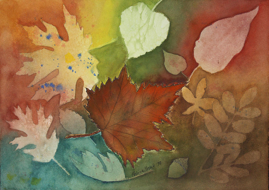 Leaves Painting - Leaves Vl by Patricia Novack