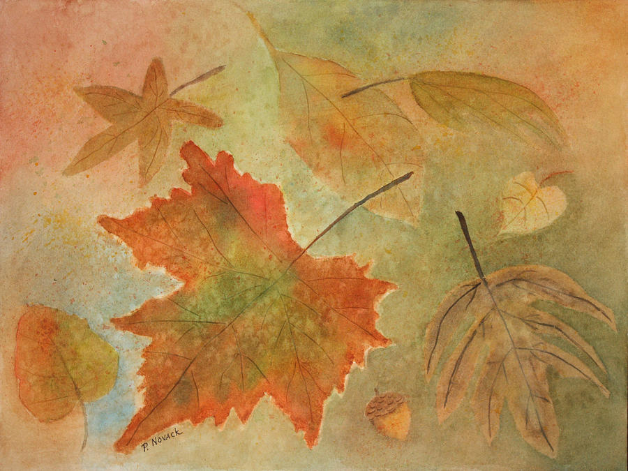 Leaves Painting - Leaves Vll by Patricia Novack