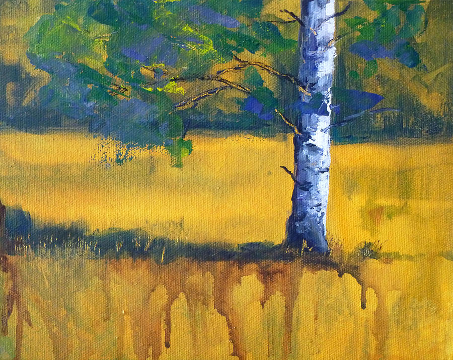 Abstract Landscape Painting - Leaving A Shadow by Nancy Merkle