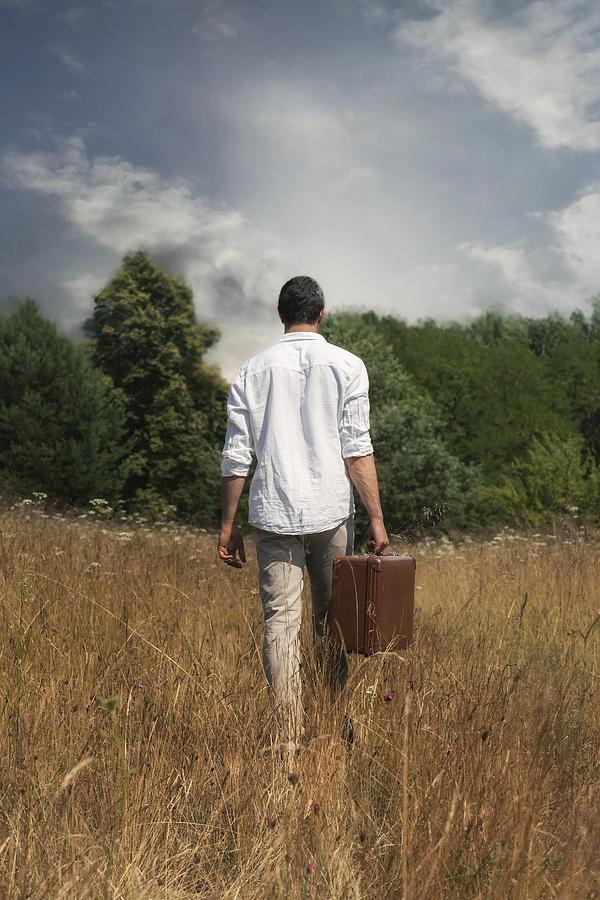 Man Photograph - Leaving by Joana Kruse