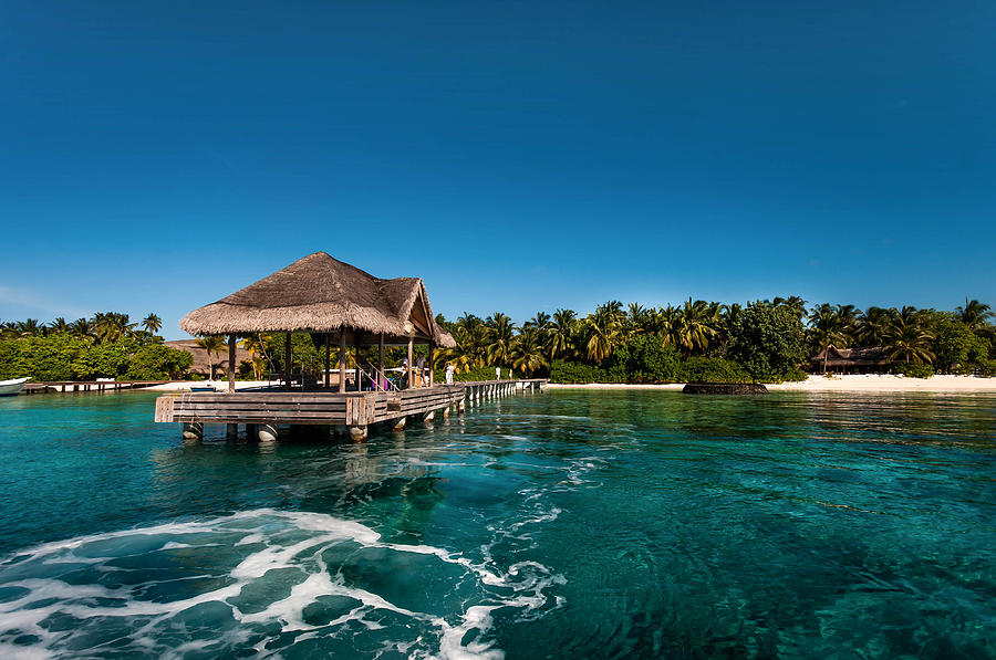 Tropic Photograph - Leaving Kuramathi Resort. Maldives by Jenny Rainbow