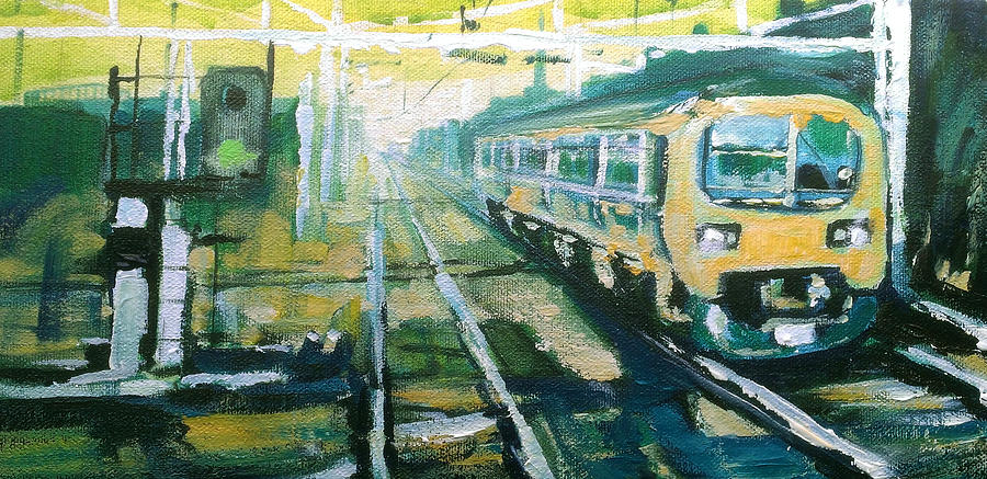 City Painting - Leaving Manchester by Paul Mitchell