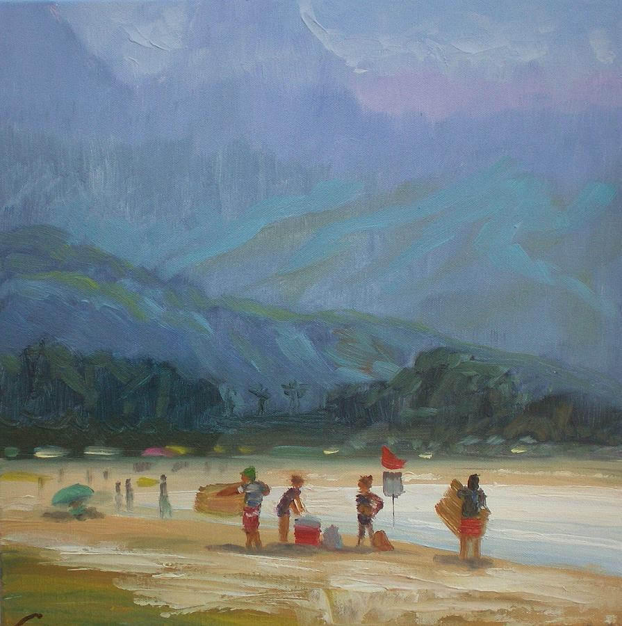 Leaving The Beach Painting