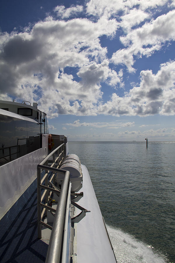 Boat Photograph - Leaving The Channel by Debbie Cundy