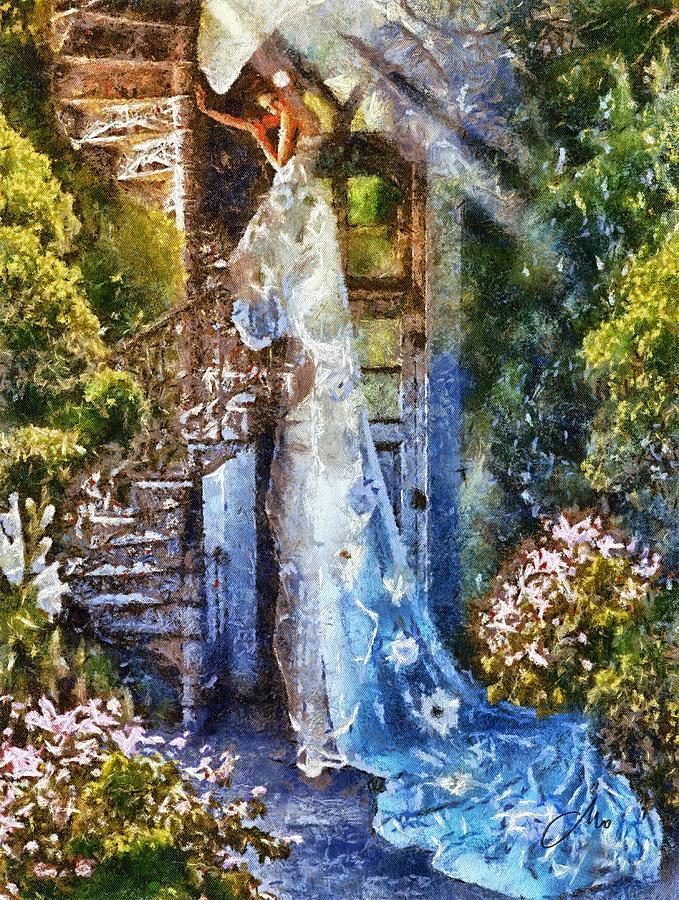 Alice In Wonderland Painting - Leaving Wonderland by Mo T