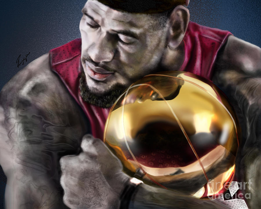 Lebron James Painting - Lebron James - My Way by Reggie Duffie
