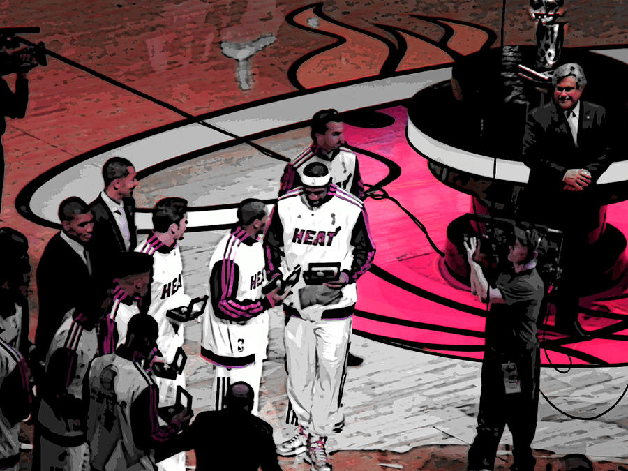 Lebron James Photograph - Lebrons 1st Ring by J Anthony